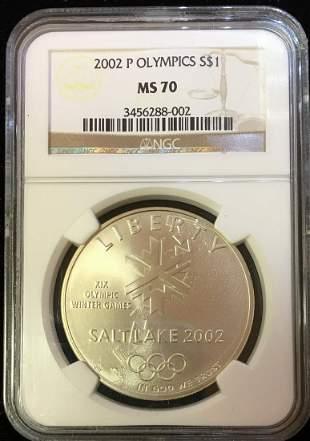 2002-P $1 Olympics Winter Games Commem Silver Dollar
