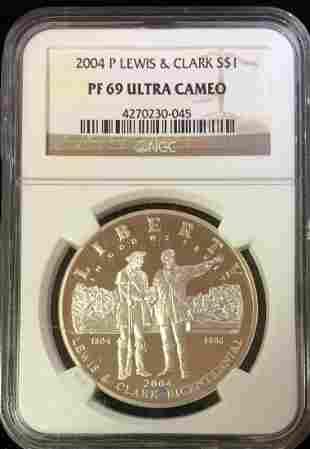 2004-P $1 Lewis & Clark Bicentennial Commem Silver