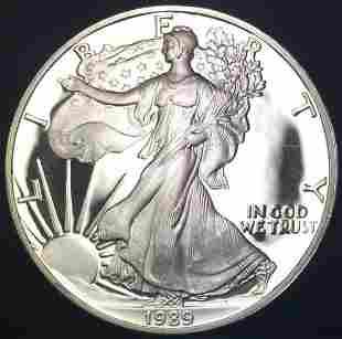1989-S $1 Proof American Silver Eagle 1 oz Fine Silver