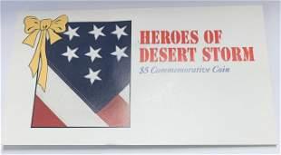 1991 Marshall Islands $5 Heroes of Desert Storm