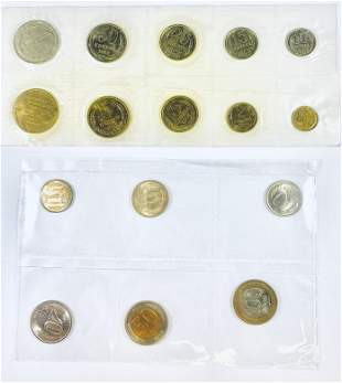 Last Coins of USSR / First Coins of the Russian