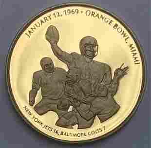 1969 Super Bowl III Baltimore Colts Orange Bawl Miami