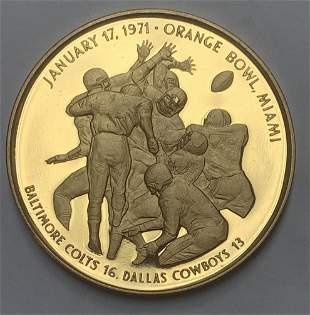 1971 Super Bowl V Dallas Cowboys 13 Orange Bawl Miami