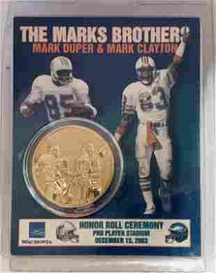 2003 Mark Clayton & Mark Duper Honor Roll Medallion
