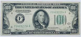 1934-C $100 Federal Reserve Note Atlanta FR #2155-F