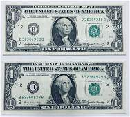 1969 $1 One Dollar Bill Federal Reserve Note New York