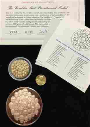 Set of 3 Lots - The Franklin Mint Bicentennial Bronze