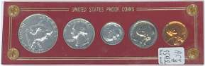1961 US Silver Proof Set in Capital Holder - Silver