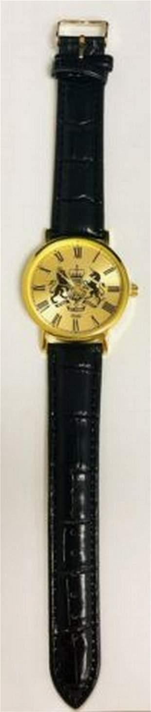Mens Gold Tone Eiger Quartz Wrist Watch