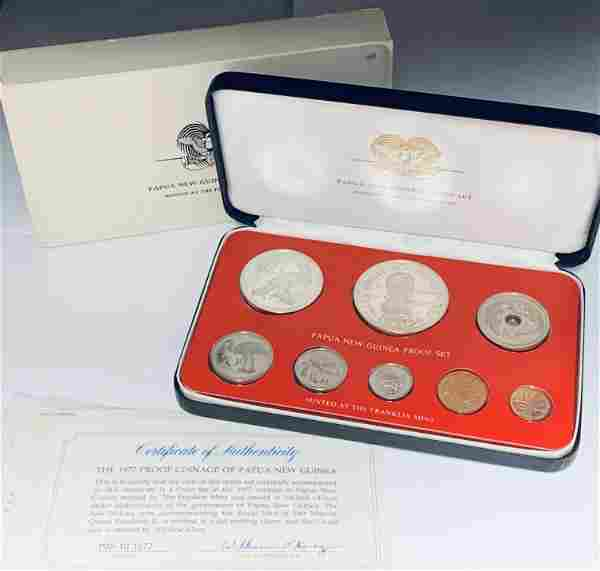 1977 Proof Coinage of Papua New Guinea Franklin Mint