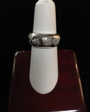 18 kt Ladies Chopard Floating .20 ct Diamond ring Size