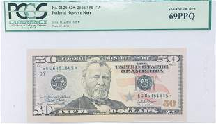 FR#2128-G* 2004 $50 FW Federal Reserve Star Note