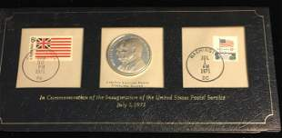 FRANKLIN MINT INAUGURATION OF THE USPS COVER WITH