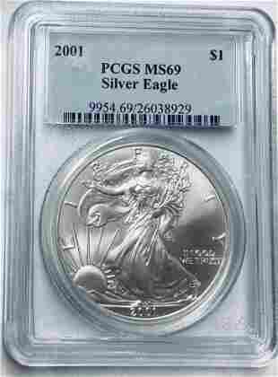 2001 $1 American Silver Eagle 1 oz. Fine Silver PCGS