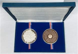 1976 Bicentennial Sterling Silver Bronze Medals Set -