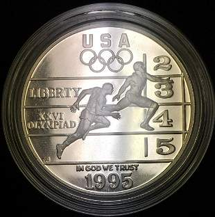 1995-P $1 Atlanta Olympic Track and Field Commemorative