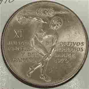 1970 Panama 5 Silver Balboa .925 Silver KM #28 Weight
