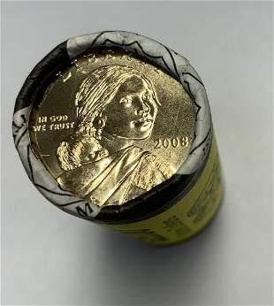 2008-P Sacagawea Dollars U.S. Mint Wrapped Roll of 25
