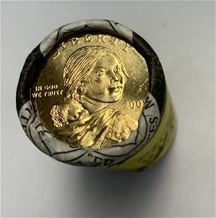 2008-D Sacagawea Dollars U.S. Mint Wrapped Roll of 25