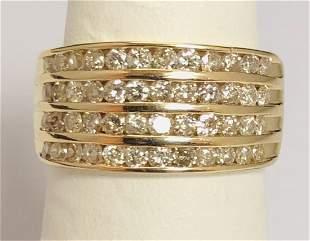 Beautiful 14k Yellow Gold 1.00 ct Diamond Band