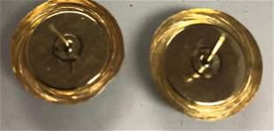 14k Ladies Yellow Gold & Onyx Earrings