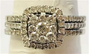 10k Ladies White Gold .75 ct Diamond Bridal Set