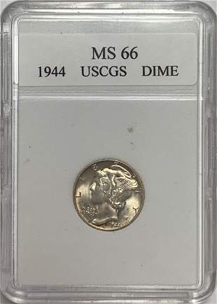 1944-P 10c Mercury Silver Dime Gem BU