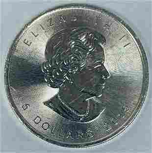 2015 $5 Canada Maple Leaf 1 oz Fine Silver BU