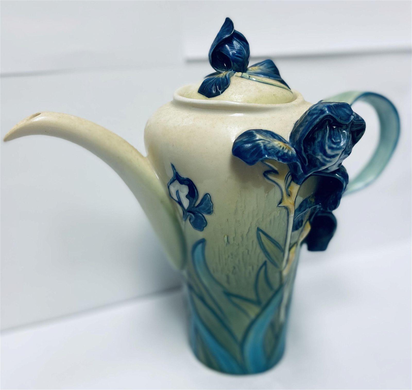 Van Gogh Iris Flower Teapot Franz Collection FZ02567