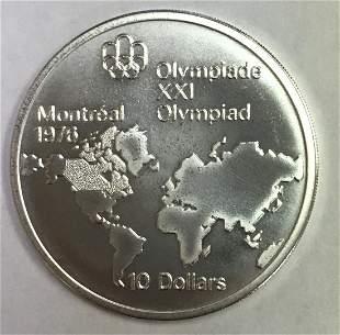 1973-Canada Commemorative Montreal 1976 Olympics Silver