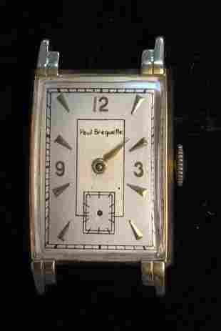 14k Gold Vintage Paul Breguette Men\\'s Watch 17 Jewels
