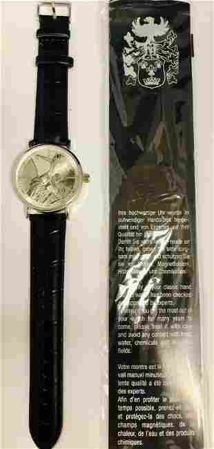 Mens 42 mm Eiger Statue of Liberty Quartz Wrist Watch