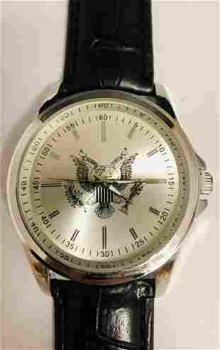 Mens 42 mm Eiger American Eagle Quartz Wrist Watch