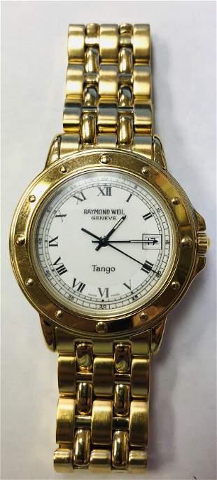 Mens Gold Plated Raymond Weil Tango Watch