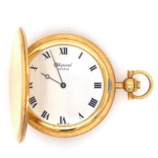 Authentic Chopard Pocket Watch 18K Yellow Gold