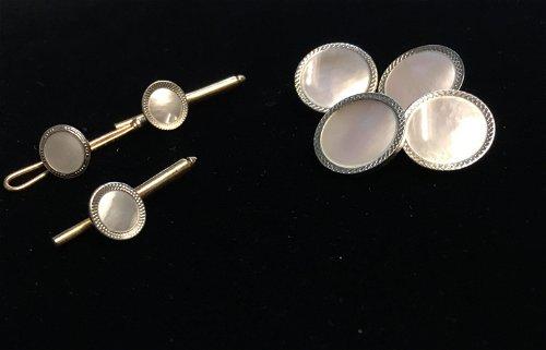 Pearl Cufflinks, Tie Pins & Tie Clips