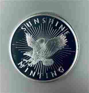 Sunshine Mint 1/2 oz .999 Fine Silver Round