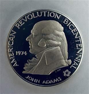 1974 John Adams - American Bicentennial Silver Commem.