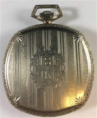 Vintage 14k Gold Plate Art Deco Pocket Watch