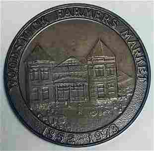 1973 Woodstock Coin Club Farmers Market Medal Medal BU