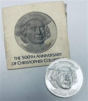 1992 Christopher Columbus 500th Anniversary Medallion