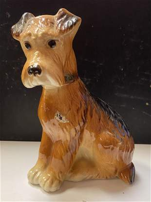 """Porcelain Dog Figurine 5 """" inches Tall"""