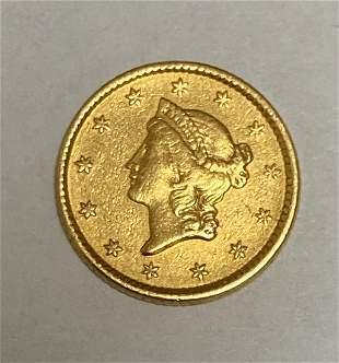 1853 P Liberty Head Gold Dollar Type 1 XF/AU $1