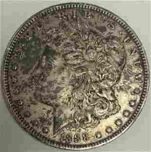 1888-P $1 Morgan Silver Dollar BU