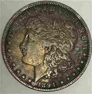 1894-P $1 Morgan Silver Dollar Key Date XF