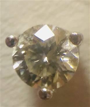 14k White Gold .25 ct Diamond Stud earring