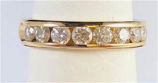 14k Yellow Gold .50 ct Natural Diamond Eternity Band