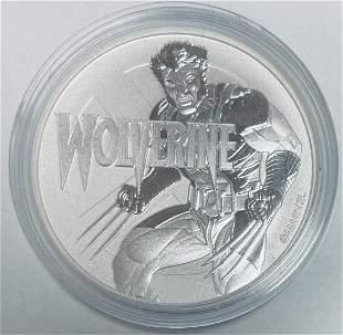 2021 $1 Tuvalu Wolverine One Dollar Marvel Series 1 oz
