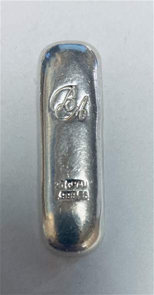 20 gram Hand Poured Silver Bar BA Initials