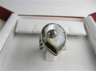 KENNETH COLE STERLING SILVER ATTRACTIVE RING SIZE 7 1/4